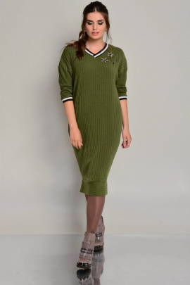 Платье Faufilure outlet С667 олива