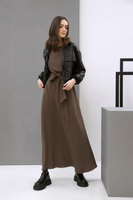 Платье LaVeLa L10050 коричневый