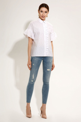 Блуза Prio 719840p бело-черный