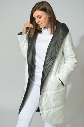 Пальто Diamant 1328 бело-черный