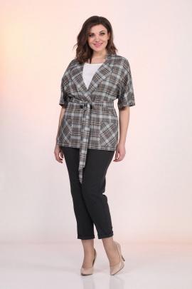 Женский костюм Lady Style Classic 1403/5 серый-черный