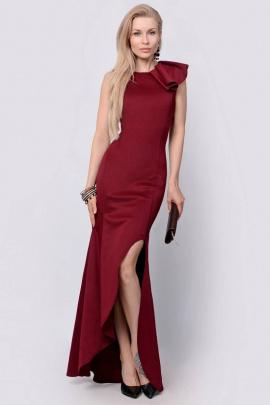 Платье PATRICIA by La Cafe F14815 винный