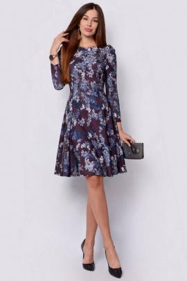 Платье PATRICIA by La Cafe F14832 коричневый,серый