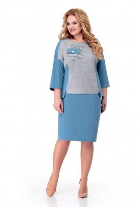 Комплект Мишель стиль 931 серо-голубой