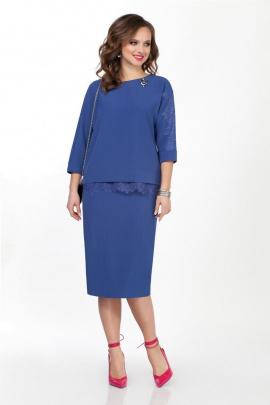 Блуза, Юбка TEZA 132 синий