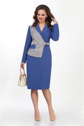 Платье TEZA 2041 синий_клетка