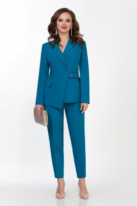 Женский костюм TEZA 2366 бирюза