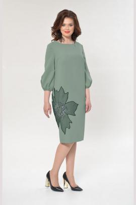 Платье Faufilure outlet С891 зеленый