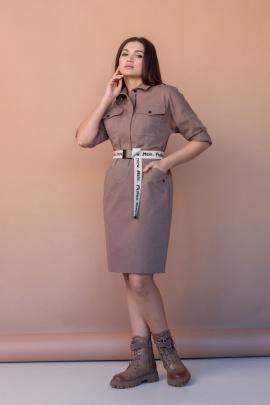 Платье Angelina 636 коричневый