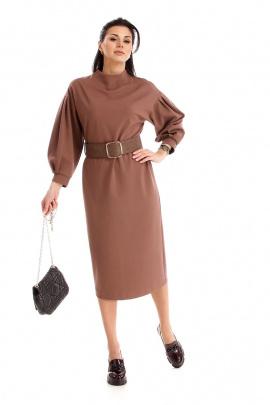 Платье IUKONA 5005 кофейный