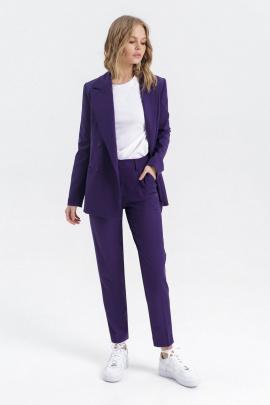 Женский костюм PiRS 1332 сине-фиолетовый+белый