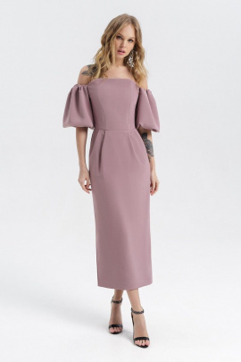 Платье PiRS 2247 розово-серый