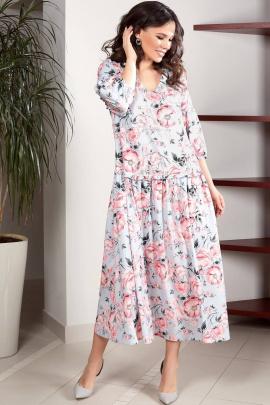 Платье Teffi Style L-1496/1 светло-голубой