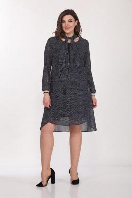 Туника, Платье Lady Style Classic 1962 темно-синий_белый