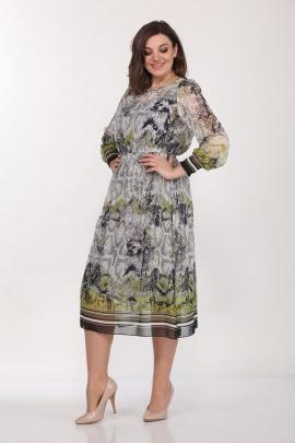 Туника, Платье Lady Style Classic 1601/1 серо-зеленый