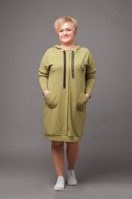 Платье Соджи 471 оливковый