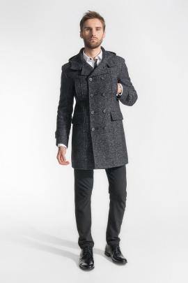 Пальто Gotti 048-16у серо-черный-твид