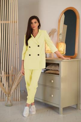 Женский костюм LadisLine 1350 светло-лимонный