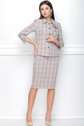 Женский костюм LeNata 21091 розовый-в-клетку