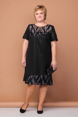Платье Соджи 204 черный/блеск