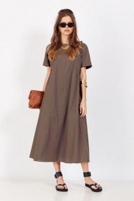 Платье Favorini 31551 шоколад