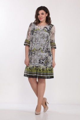 Комплект Lady Style Classic 1566/6 серо-зеленый