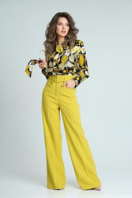 Брюки SandyNa 13917 олива-желтый