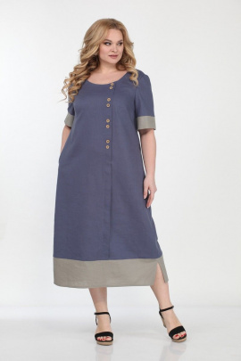 Платье Bonna Image 563 синий-бежевый