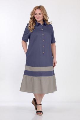 Платье Bonna Image 566 синий-бежевый