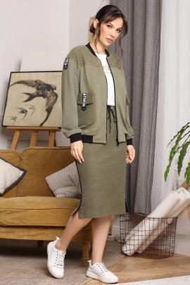 Женский костюм Мода Юрс 2657 хаки