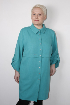 Блуза MIRSINA FASHION 14470311 бирюза