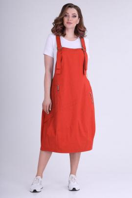 Платье ELGA 01-607 красный