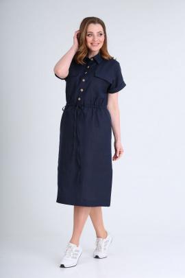 Платье GALEREJA 636 синий/однотон