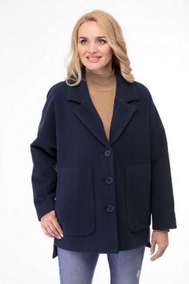 Пальто БелЭльСтиль 841 темно-синий
