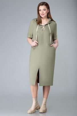 Платье Арита-Denissa 1343 хаки