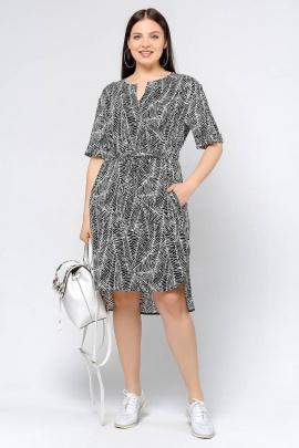 Платье La rouge 5318 черно-белый-набивной