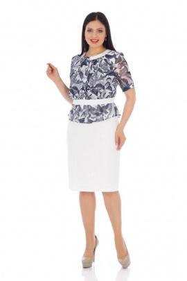 Платье Almila-Lux 1016 серо-белый