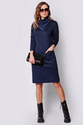 Платье PATRICIA by La Cafe F14961 темно-синий