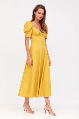 Платье Favorini 31603 горчица