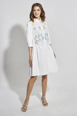 Платье ELLETTO LIFE 1828 белый