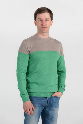 Джемпер Subota 2301 зелено-серый(182/188)