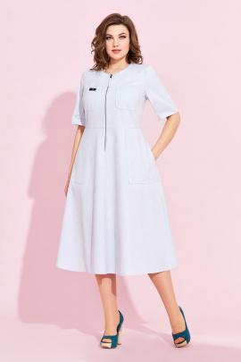 Платье Милора-стиль 877 голубой(джинс)