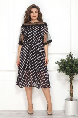 Платье Solomeya Lux 802 черный+розовый