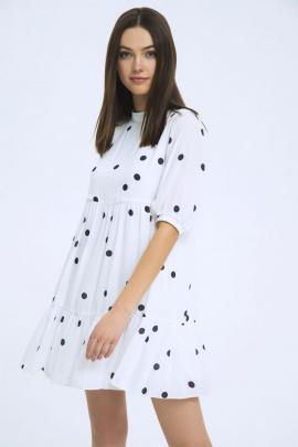 Платье LaVeLa L1983 молочный/черный