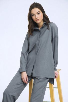 Рубашка LaVeLa L50223 серый