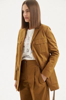 Жакет Moveri by Larisa Balunova 1353J оранжево-коричневый