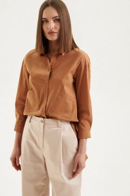 Рубашка Moveri by Larisa Balunova 2074S бежевый