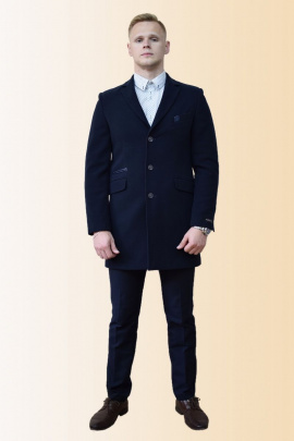 Пальто DOMINION 1869D 8C21-P49 188 темно-синий