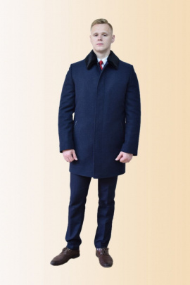 Пальто DOMINION 1875D 8C128-P49 188 темно-синий