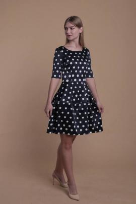 Платье AnnLine 90 синий/горох